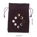 Pochette en velours avec phases de la lune