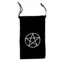 Pochette pour cartes de tarot agrémentée d'un pentagramme