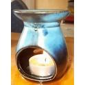 Brûle parfum en céramique noir, brun ou bleu