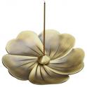 Brûle-encens en cuivre doré pour cônes ou batonnets