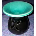 Brûle parfum en céramique noir et turquoise