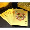 Cartes dorées et imperméables pour cartomancie à l'ancienne