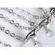Pendule en améthyste forme Épée + chaine argentée + pochette de rangement