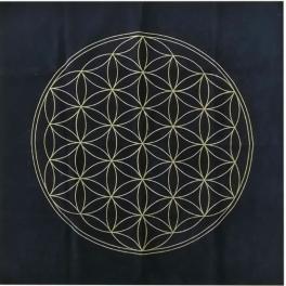 Tapis de table imprimée de la fleur de vie